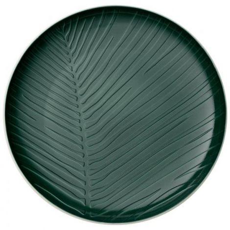 Villeroy & Boch It's My Match Green Plate Leaf 24 cm.
