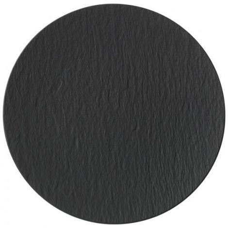 Villeroy & Boch Manufacture Rock Gourmet Plate Black 31,5 cm. Levering januar 2021.