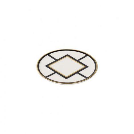 Villeroy & Boch MetroChic-dalbane, 11 cm i diameter, hvit / svart / gull