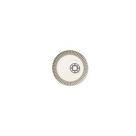 Villeroy & Boch MetroChic kaffekoppfat, 18,5 cm diameter, hvit / svart / gull