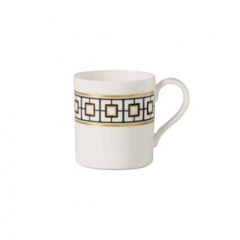 Villeroy & Boch MetroChic kaffekopp, 210 ml, hvit / svart / gull