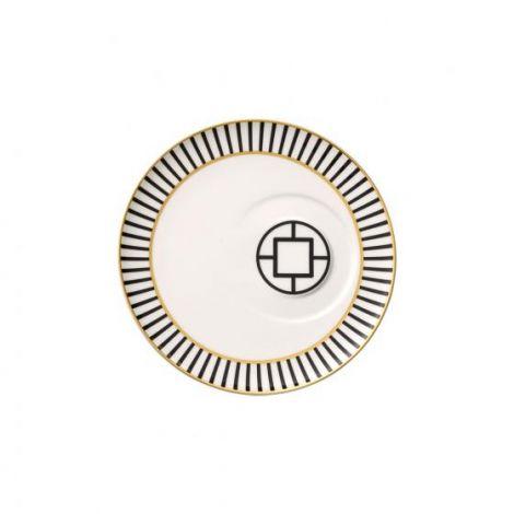 Villeroy & Boch MetroChic te-skål, 18,5 cm i diameter, hvit / svart / gull