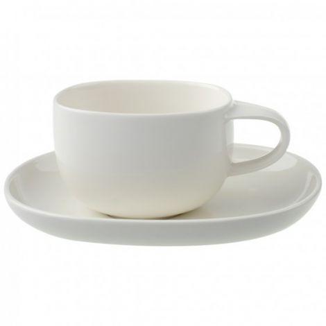 Villeroy & Boch Urban Nature Hvit kaffekopp 45 cl m / skål