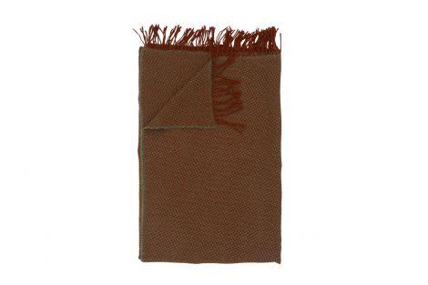 Halvor Bakke Ashford Pledd 120x190 Dusty olive/ rustic brown