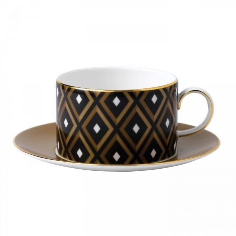 Wedgwood Arris Teacup & Saucer Geometric