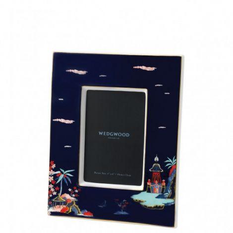 Wedgwood Wonderlust Bilderamme 6x4 Blue Pagoda Boxed