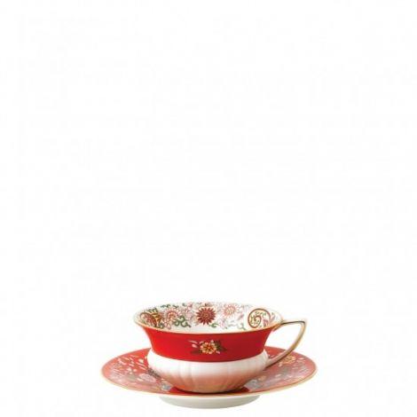 Wedgwood Wonderlust Crimson Orient Tekopp og underkop