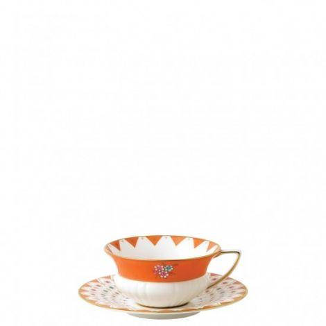 Wedgwood Wonderlust Peony Diamond Teacup & Saucer