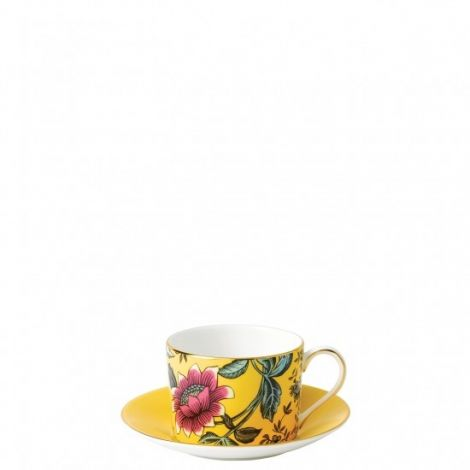 Wedgwood Wonderlust Yellow Tonquin Teacup & Saucer