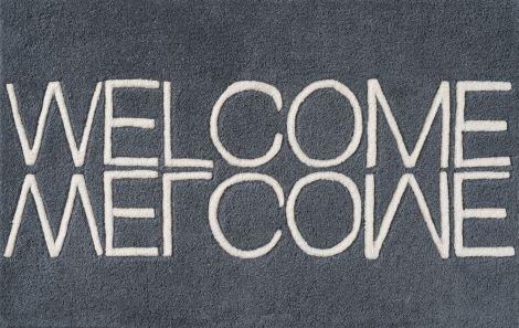 Linie Design Welcome Dørmatte Blue 50/80
