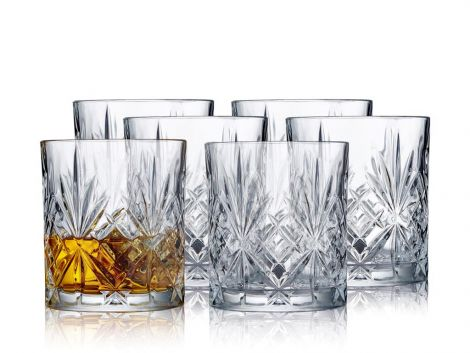 Lyngby Glass Melodia Whisky 31cl 6 stk krystall. Levering april -21.