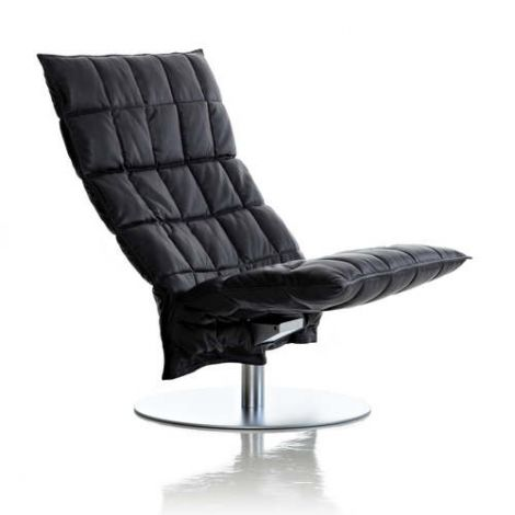 Woodnotes K-Chair Wide Swivel Leather