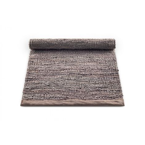 Rug Solid Skinnteppe Trefarget Flere Størrelser