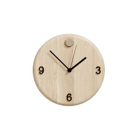 Andersen WoodCare Eik Klokke m/ Utskiftsbare Tall (medfølger)