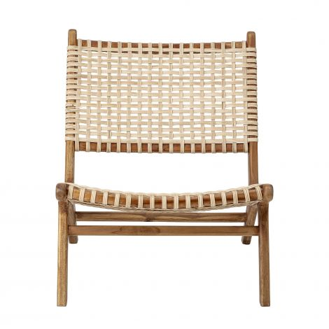 Bloomingville Cone Lounge Chair Natural Teak. Levering juni -21.