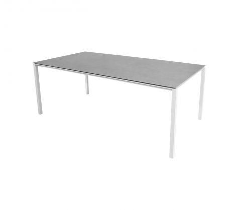 Cane-line Pure spisebord Aluminium-base Hvit 200x100cm