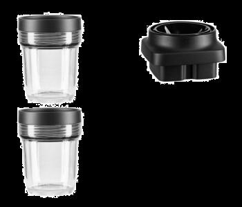 KitchenAid Minihakker-sett til K400 Blender Klar / Sort - 3 deler. Levering medio april.