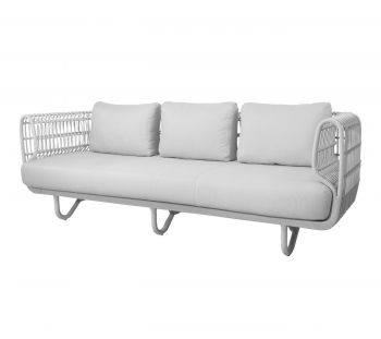 Cane-line Nest 3 seter sofa Hvit