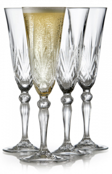 Lyngby Glass Champagne Melodia 16cl 4 stk krystall. Levering mai -21.
