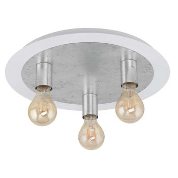 Eglo Passano Taklampe Hvit / Sølv - 3-lys