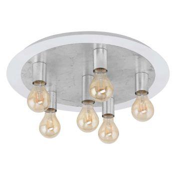Eglo Passano Taklampe Hvit / Sølv - 6-lys