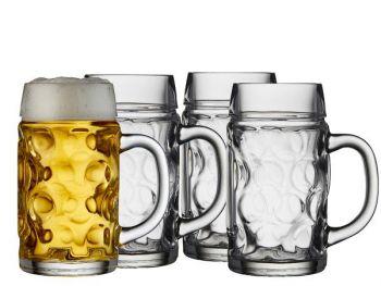 Lyngby Glass Ølkrus 0,5 liter 4 stk