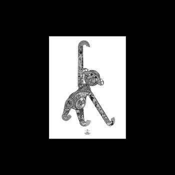 Kay Bojesen Plakat Monkey 30x40 cm