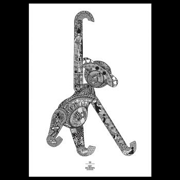 Kay Bojesen Plakat Ape 50x70 cm