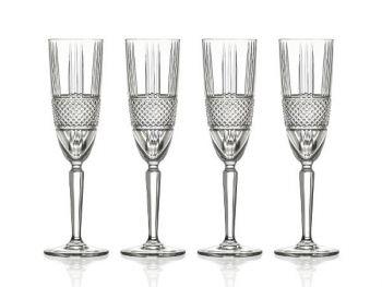 Lyngby Glass Champagne Brillante 19cl 4 stk - U