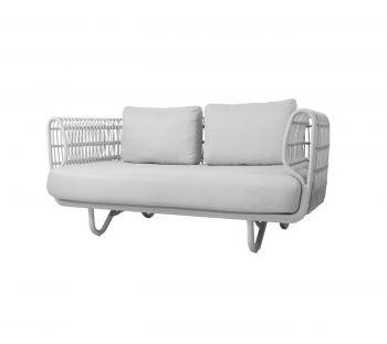 Cane-line Nest 2 seter sofa Hvit