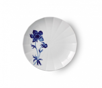 Royal Copenhagen blomsterplate fransk anemone 22 cm
