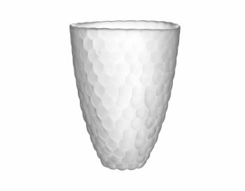 Orrefors Raspberry Vase Frostet 20 cm