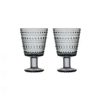 Iittala Kastehelmi universalglas 26cl grå 2-pk