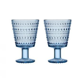 Iittala Kastehelmi universalglas 26cl aqua 2-pk