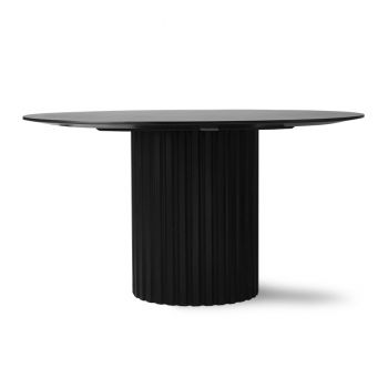 HKliving Pillar Spisebord Sort Ø140