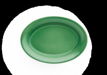 Kähler Ursula Oval Tallerken Grønn 18x13 cm