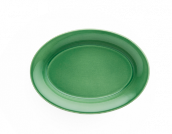 Kähler Ursula Oval Tallerken Grønn 22x16 cm