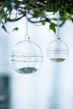 Magnor Se Ilden Lyse julekule sølv liten