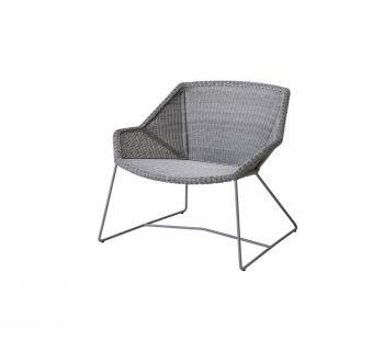 Cane-line Breeze lounge stol Lys Grå