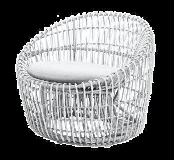 Cane-line Nest rund stol Hvit
