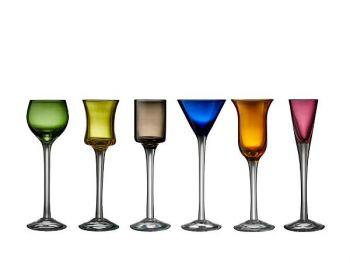 Lyngby Glass Snapsglass Lyngby p / stett 6 ass.
