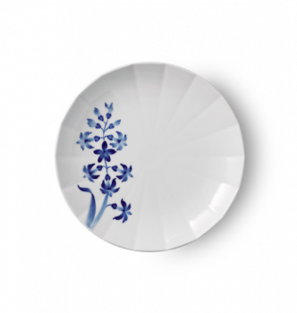 Royal Copenhagen blomsterplate Svibel 22 cm
