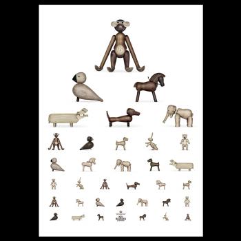 Kay Bojesen Plakat Synetavle 50x70 cm