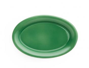 Kähler Ursula Oval Tallerken Grønn 33x22 cm