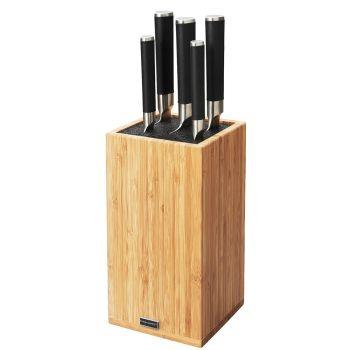 Fiskars Sensei knivblokk med 5 kniver