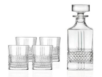 Lyngby Glass Whiskysett Brillante 5 deler - U