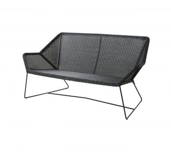 Cane-line Breeze 2 seter lounge sofa Sort. Levering juni -21.