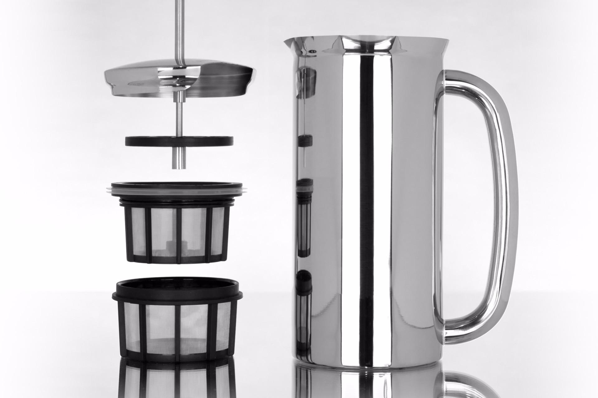 Espro P7 Stempelkande blank stål kaffe 4 kopper