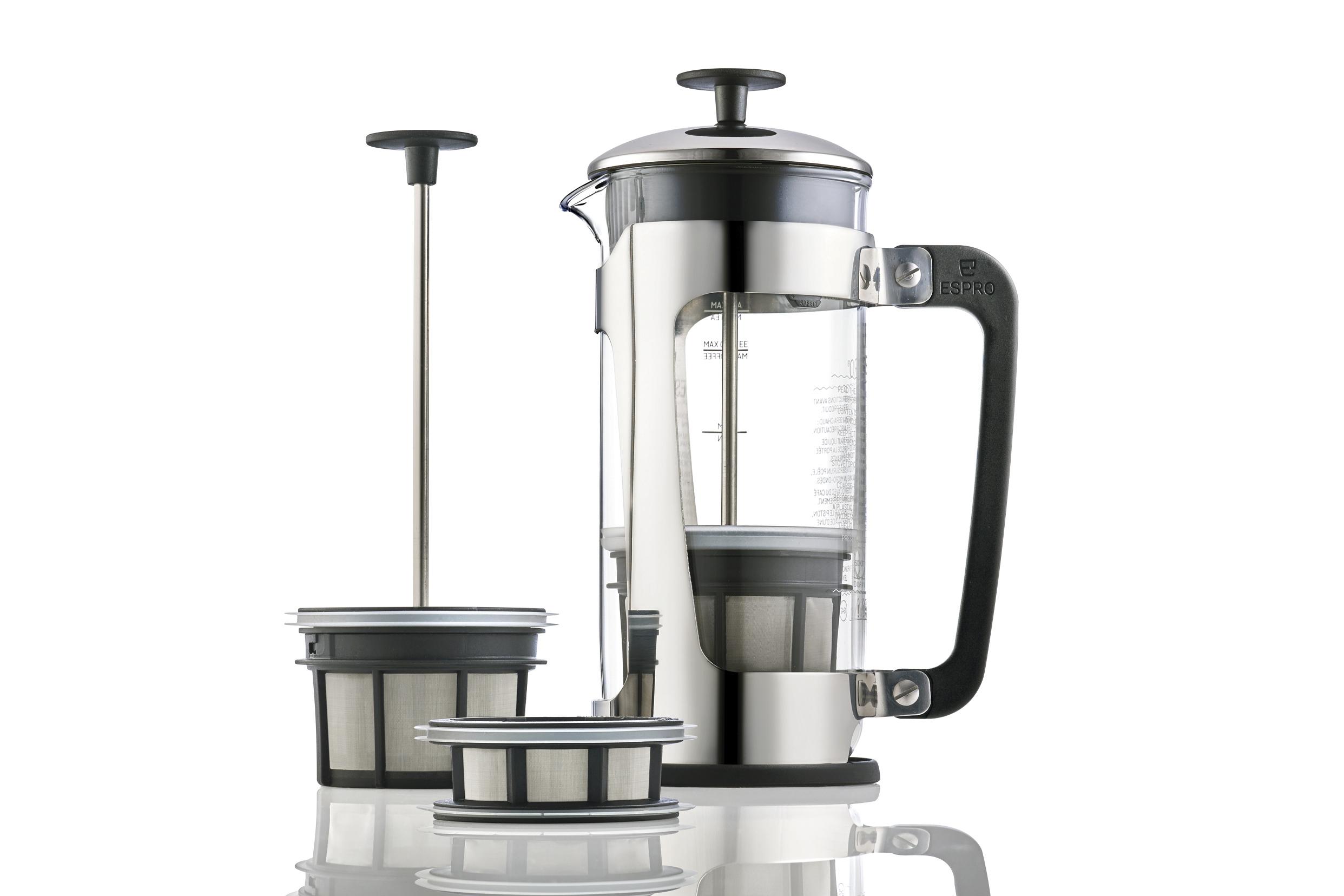 Espro P5 Stempelkande 4 kop, stål/glass, kaffe