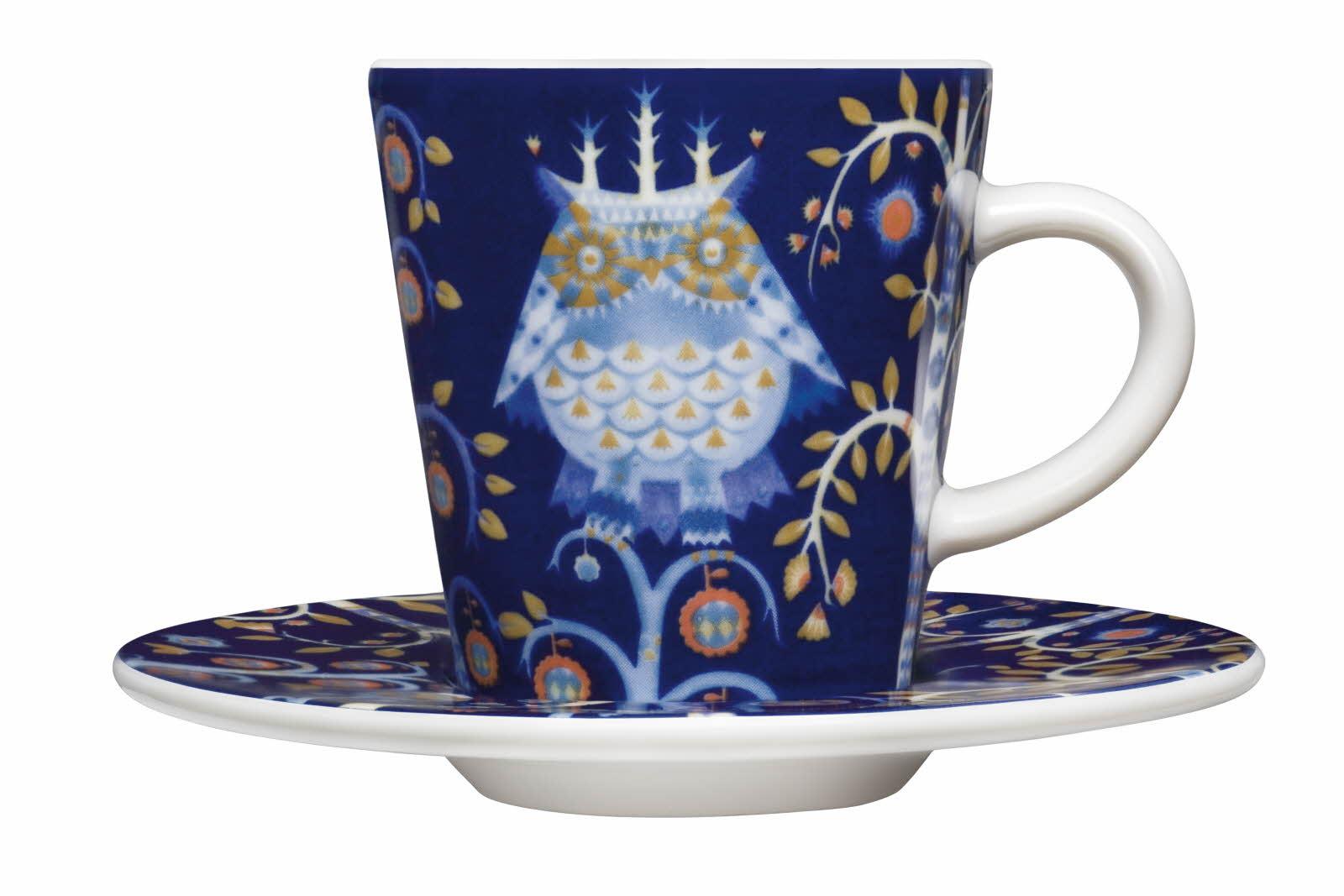 Iittala Taika espresso kopp og skål blå